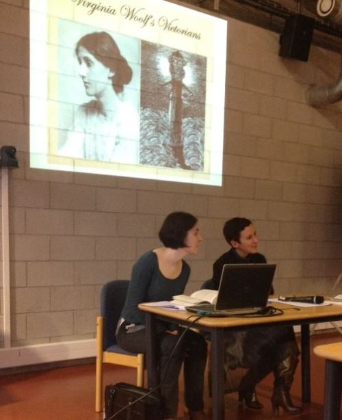 Marie Laniel and Catherine Bernard talking about Virginia Woolf's Victorians