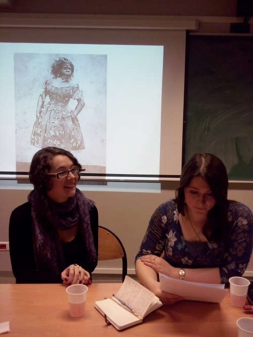 Kathryn and Clare talking about disabled bodies in Wilkie Collins's novels