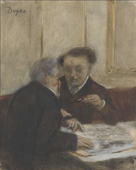 Edgar Degas, At the Café Châteaudun (1869-71), The National Gallery