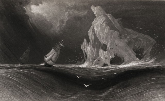 The Advance and Rescue entering Lancaster Sound, Elisha Kent Kane, The U.S. Grinnell Expedition, 1854.