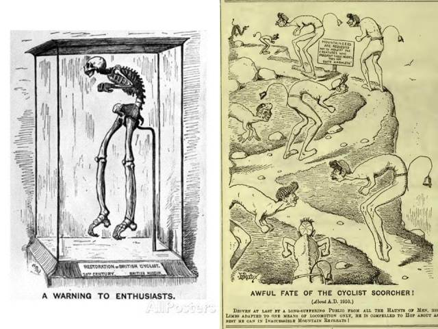 Edward Tennyson Reed, A warning to enthusiasts published in Punch or the London Charivari, July 6, 1889. Mountain Scorchers, Punch.