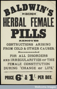 Wellcome Library, London. Baldwin's Herbal Female Pills