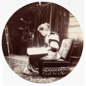 Woman reading, c. 1890, courtesy of National Media Museum