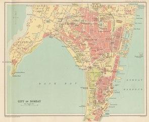 City of Bombay map